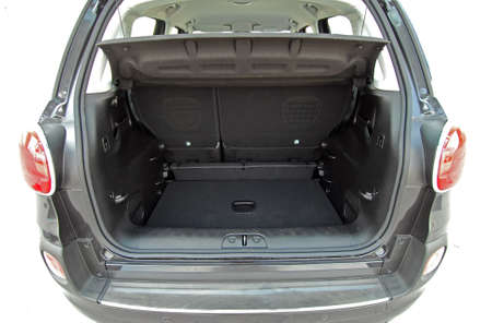 car trunk: Empty trunk of the small car