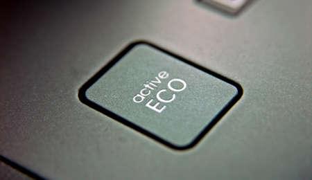 phon: eco button Stock Photo