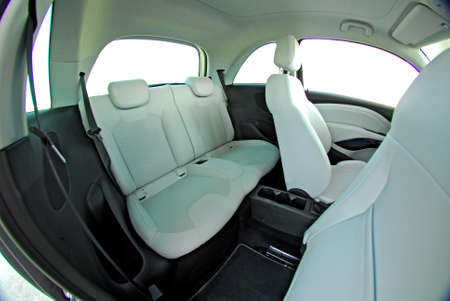 rear seats in a small car photo