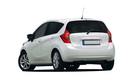 hatchback: white car