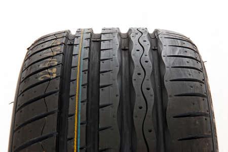 vulcanization: Brand new modern summer sports tire