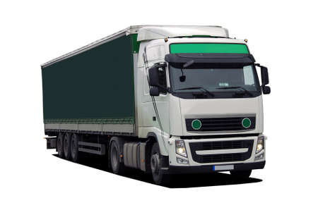 semi: large truck with semi trailer