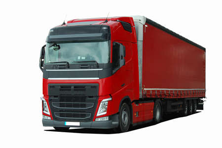 heavy vehicle: large truck with semi trailer