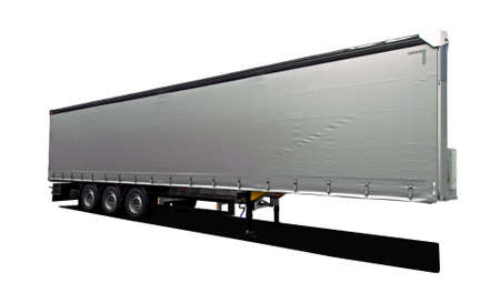semi trailer: semi trailer Stock Photo
