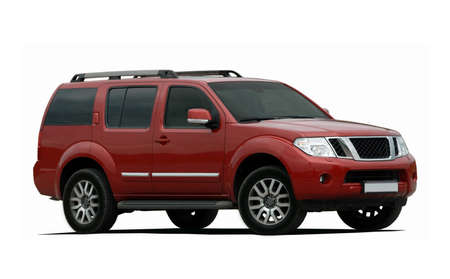 red large SUV