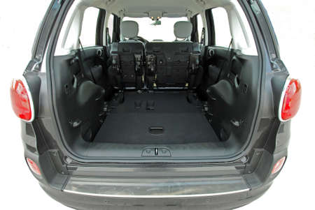 fold back: car trunk with rear seats folded