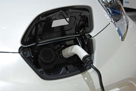 electric station: Charging ecological car