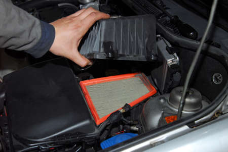 new filter: replacement of air filter