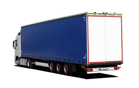 semi trailer: truck with semi trailer