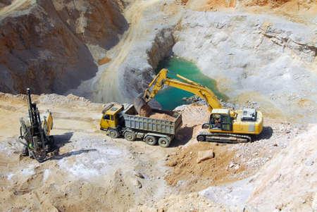 machinery: machinery in a quarry