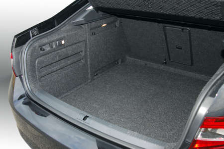 car door: empty car trunk