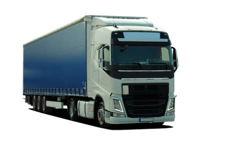 industrial vehicle: large truck with semi trailer