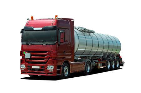 truck driver: Fuel tanker truck Stock Photo