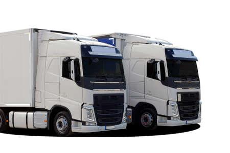 heavy vehicle: two truck Stock Photo