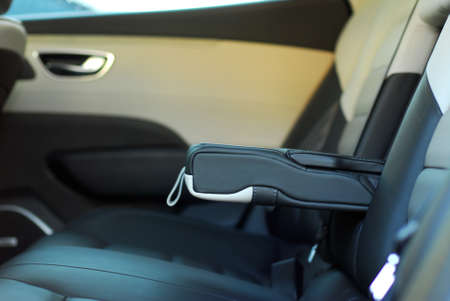armrest: armrest in the car Stock Photo