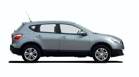 shiny car: SUV side view