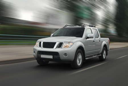 Speedy pick-up on the road. Standard-Bild