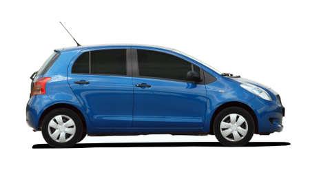 small blue car Standard-Bild