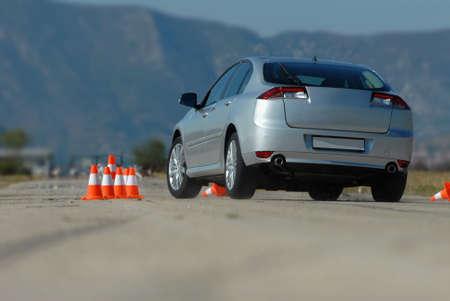Test driving a car