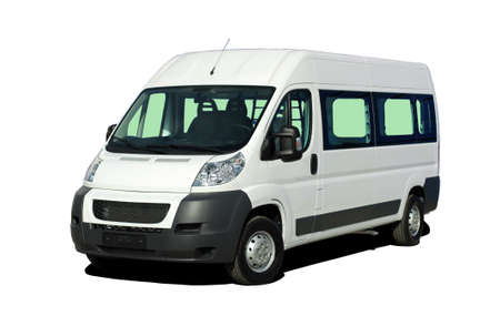 minibus isolate on white