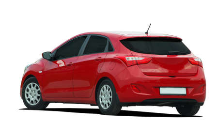 red car, hatchback