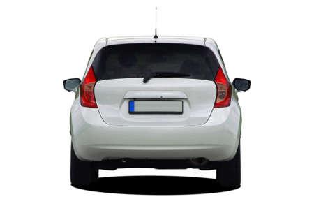 Witte auto achteraanzicht Stockfoto - 89941362
