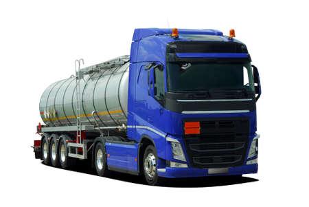 Fuel tanker truck Stock Photo