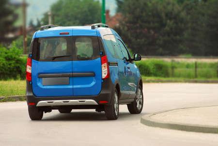 Van driving too fast