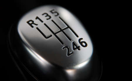 De kop van de handmatige versnellingspook Stockfoto