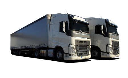 two trucks Banque d'images - 112396120