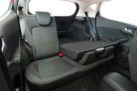 folded rear seat of the car 版權商用圖片