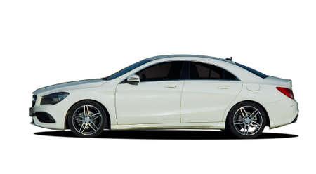 Limousine, Auto auf weißem Hintergrund