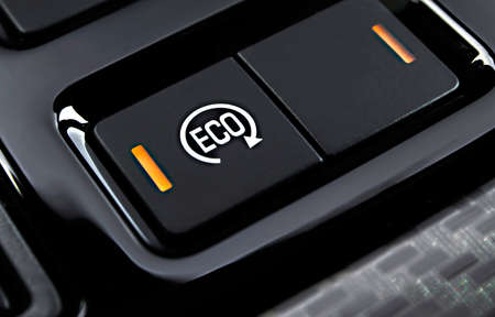 eco button on the dashboard car