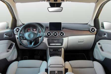 dashboard van een moderne auto Stockfoto