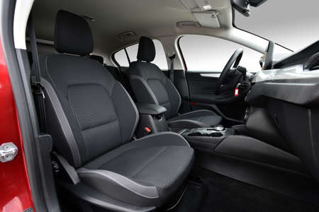 Front seats of a modern passenger car Stockfoto