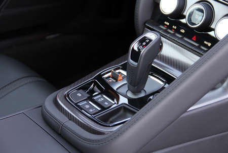 automatic selector lever in the sports car