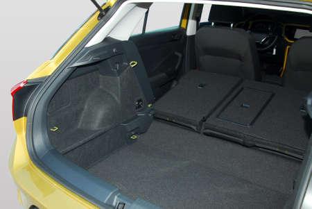 car trunk with rear seats folded Archivio Fotografico