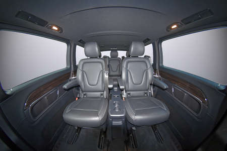 Luxury leather seats in the van Reklamní fotografie