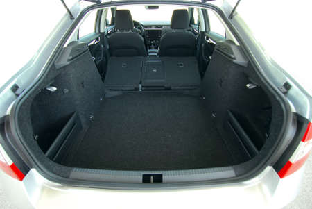 car trunk with rear seats folded