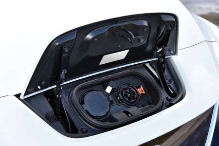 Charging port on a modern electric car