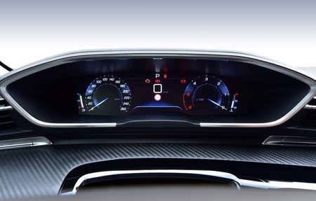 Digital instrument panel in a modern car Reklamní fotografie