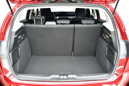 Trunk of the car. Empty trunk of the passenger car.