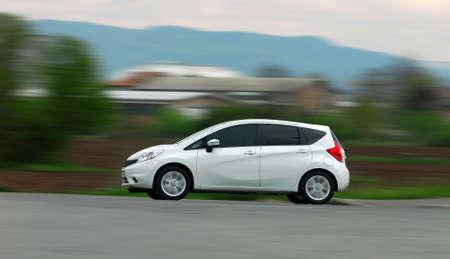 Passenger car at high speed 스톡 콘텐츠