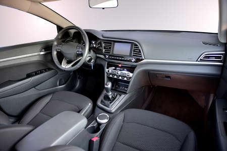 Dashboard of a modern car Stock Photo