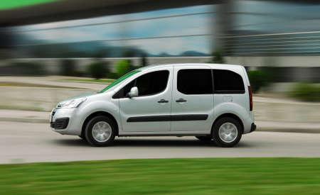 Van at high speed. Speedy van.