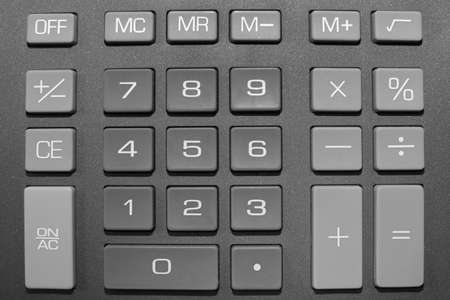 Keypad of a calculator close up photo
