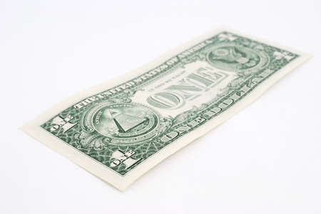 greenback: Close-up american dollar isolated on white background Stock Photo