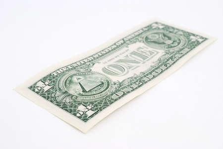 cuenta: Close-up d�lar americano aislado sobre fondo blanco