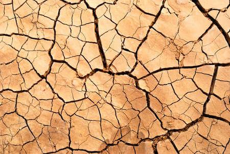 Dry cracked earth in desert  Stock Photo