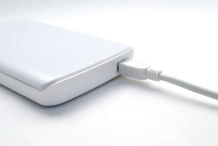 Portable external hard drive with mini USB connection photo